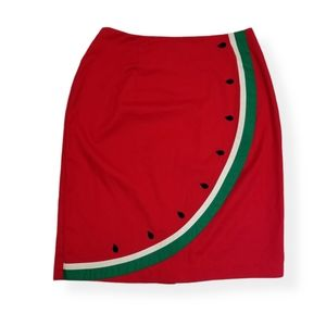 {Sharon Young} 🍉Vintage Watermelon Wrap Skirt